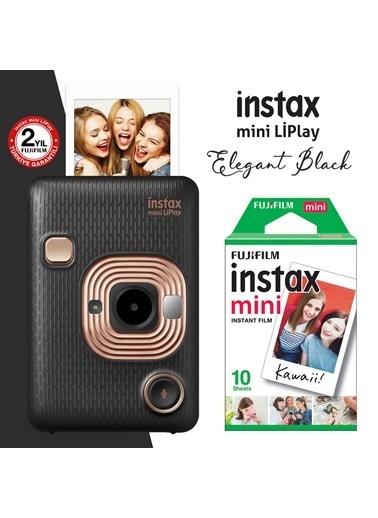 Fujifilm instax mini LiPlay Hybrid Elegant Black Fotoğraf Makinesi 10lu mini Film Siyah